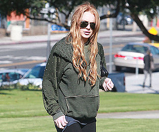 Slide Picture of Lindsay Lohan With Red Hair in LA