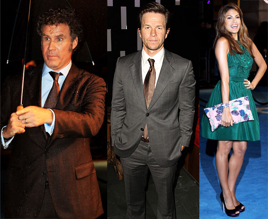 Eva Mendes, Mark Wahlberg and Will Ferrell at The Other Guys London Premiere 2010-09-15 20:00:00