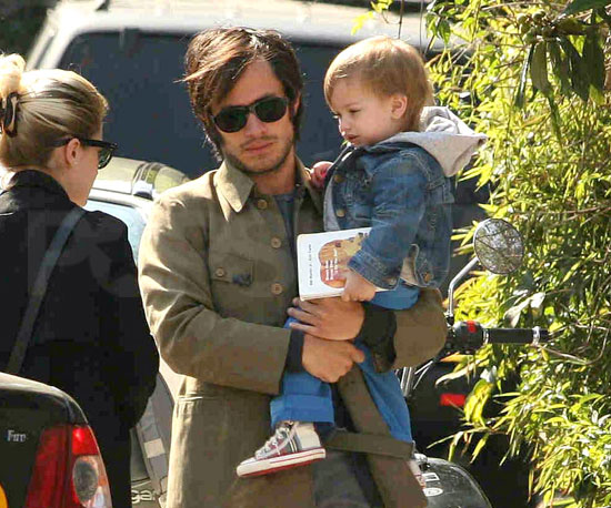 Slide Picture of Gael Garcia Bernal and Son Lazaro