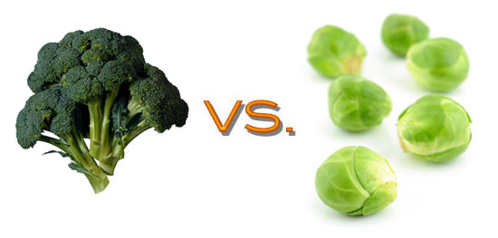 Comparing Brussels Sprouts and Broccoli