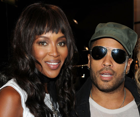 Slide Picture of Naomi Campbell and Lenny Kravitz in Paris