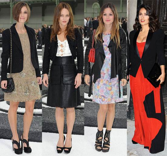 Celebrities at Chanel Show at Paris Fashion Week
