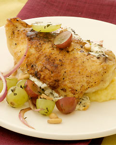 Chicken With Grapes and Goat Cheese Recipe
