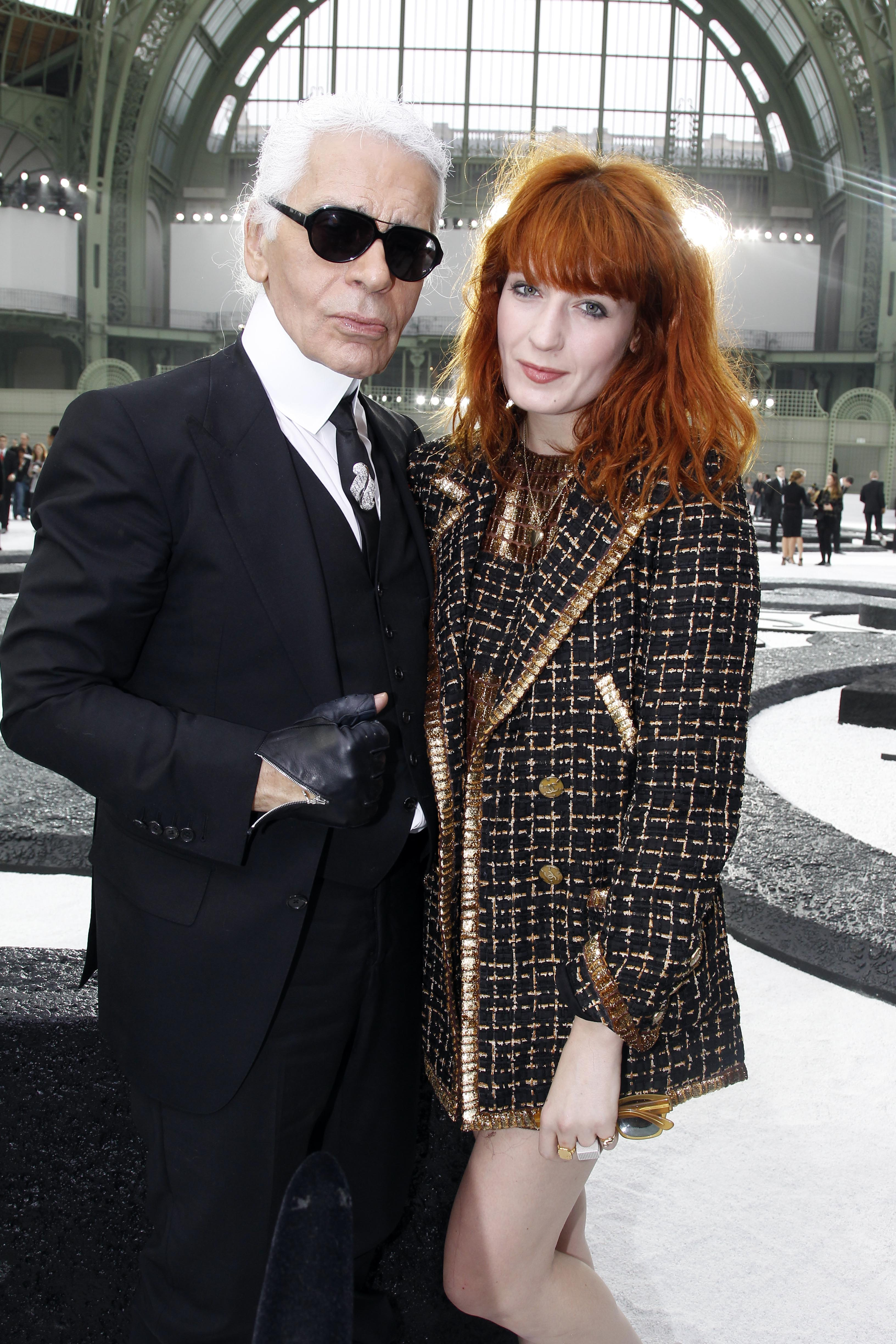 Florence Welch and Karl Lagerfeld