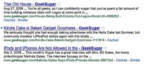 Google Search Loves Arrows
