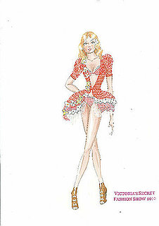 Peep Outfit Sketches from the Upcoming 2010 Victoria's Secret Fashion Show