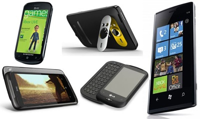 Photos of the Windows Phone 7 Devices