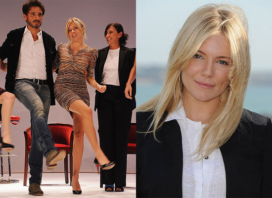 Sienna Miller Doing the Can-Can Dance in France at British Film Festival