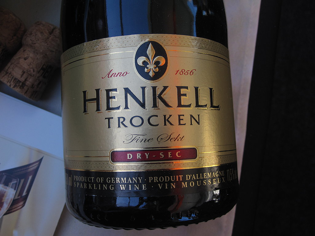 A great thing about tasting tents is you get to try a lot of new things. For example, I had never sipped sparkling wine from Germany before. After one taste, I couldn't get enough of this dry bubbly from Henkell Trocken.