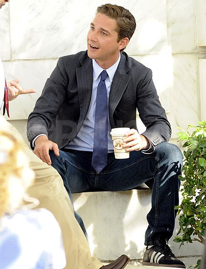Pictures of Shia LaBeouf on the Washington DC Set of Transformers 3