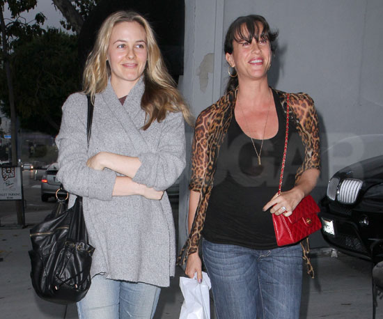 Slide Picture of Alanis Morissette and Alicia Silverstone at Urth Cafe