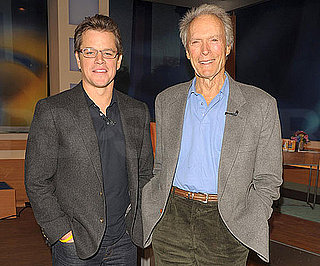 Slide Picture of Matt Damon and Clint Eastwood at The Early Show in NYC