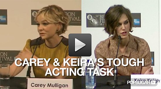 Video of Carey Mulligan and Keira Knightley at the London Premiere of Never Let Me Go