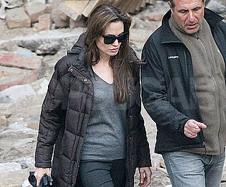 Slide Picture of Angelina Jolie on Set in Hungary 2010-10-15 15:15:00