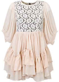 True Decadence Lace Tiered Dress