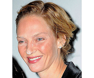 Uma Thurman and Celebrity Powder Mishap Pictures and Tutorial