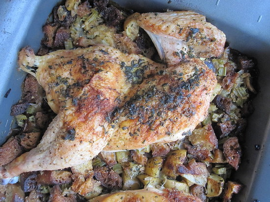 Roast Chicken With Sage Stuffing Recipe