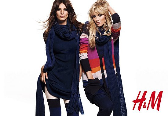 Pictures of Daria Werbowy and Anja Rubik For H&M