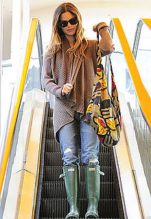 Pictures of Rachel Bilson Looking Ready For Rain in LA on a Grocery Store Stop