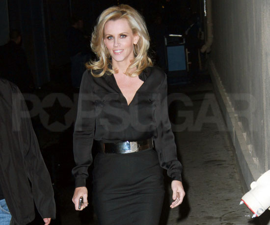 Slide Picture of Jenny McCarthy Outside of Jimmy Kimmel Live