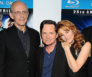 Slide Picture of Michael J Fox, Christopher Lloyd, Lea Thompson at 25th Anniversary of Back to the Future