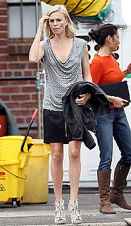 Pictures of Charlize Theron on the Set of Young Adults in NYC