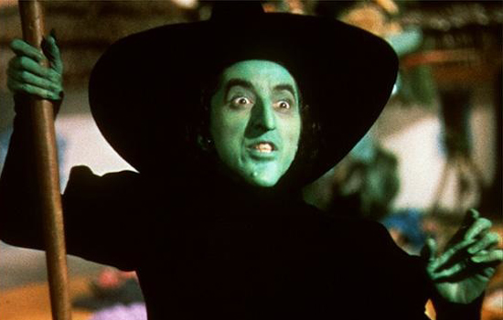 Wicked Witch Of The West Flying On Her Broom The Wicked Witch of th...