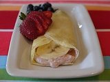 Creamy Banana Strawberry Crepes