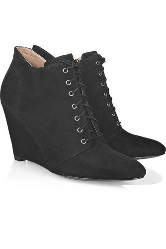 Belle by Sigerson Morrison - Lace-up wedge ankle boots