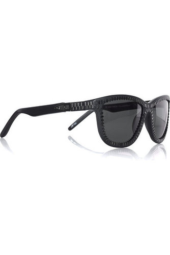 Alexander Wang - Zipper square-frame sunglasses