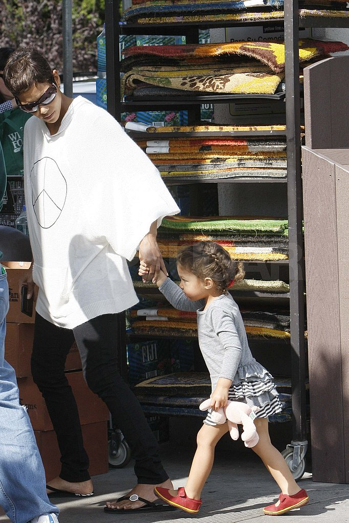Pictures of Halle Berry and Nahla
