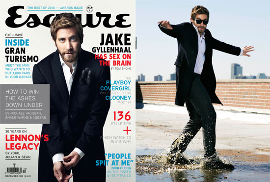 Pictures of Jake Gyllenhaal in the November 2010 Esquire UK