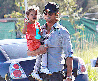 Slide Picture of Gabriel Aubry and Nahla at Zoo in LA