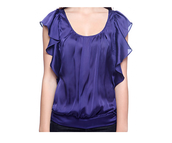 Forever 21 Satin Capsleeve Top