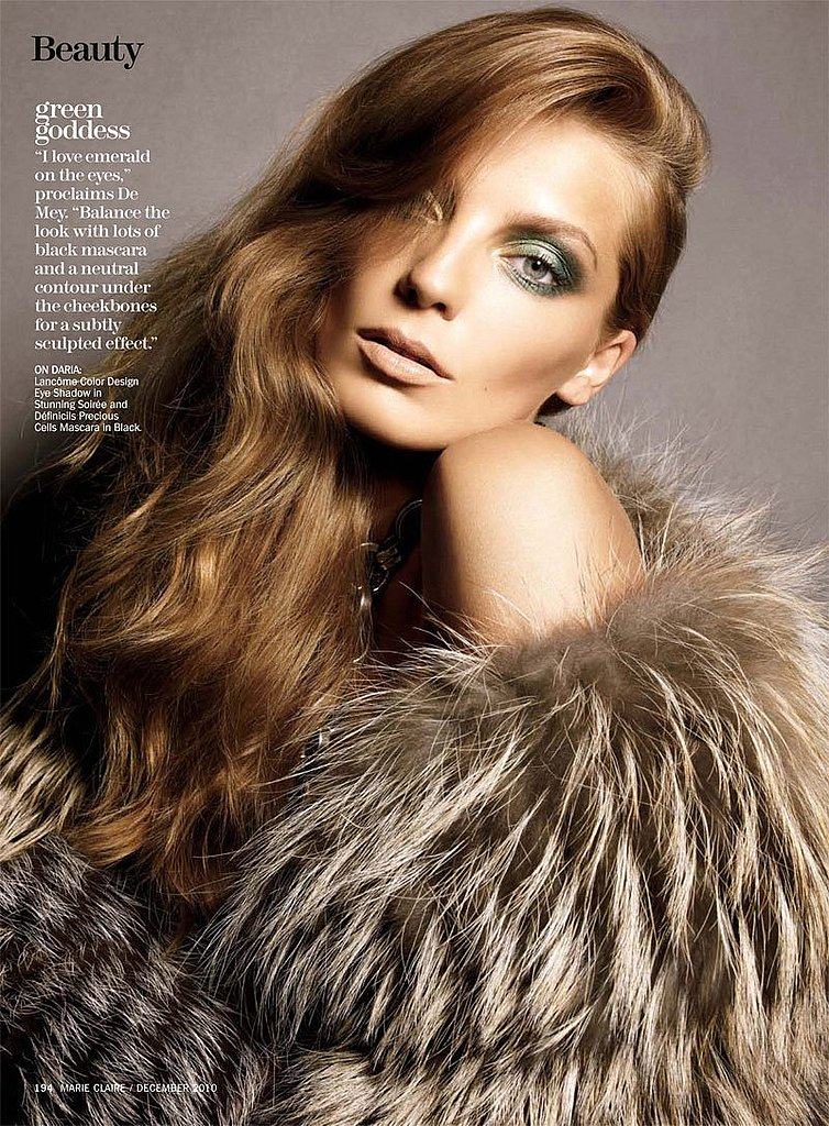 Daria Werbowy and Aaron de Mey For Marie Claire US December 2010