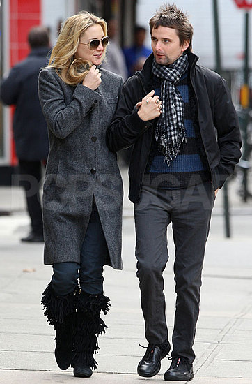 Pictures of Kate Hudson and Matthew Bellamy Holding Hands in NYC