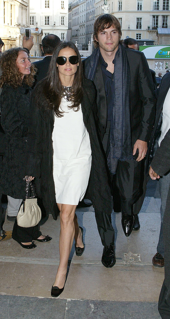 Oversize shades and white-and-black chic for Fashion Week in 2006.