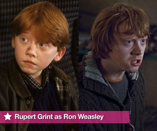 Rupert Grint As Ron Weasley Through the Years in All the Harry Potter Films