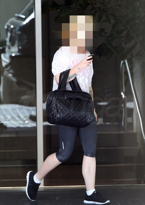 Picture of a Celebrity Leaving Private Beverly Hills Gym