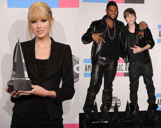 American Music Awards Winners 2010 Full List 2010-11-21 21:15:40