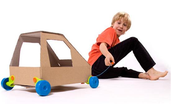 Rolobox Cardboard Box  Wheels
