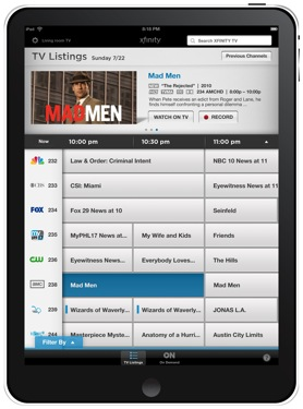 Comcast Xfinity iPad App