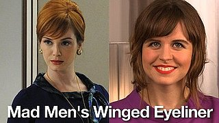Retro Makeup How-To: Mad Men's Winged Eyeliner