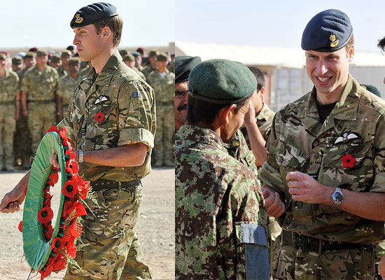 Prince William on Remembrance Day in Afghanistan