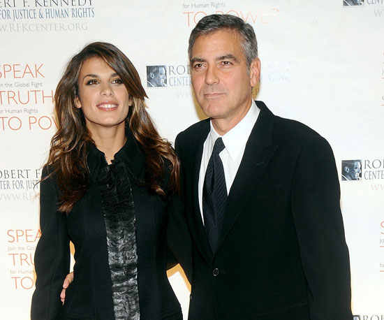 Slide Picture of George Clooney and Elisabetta Canalis in New York