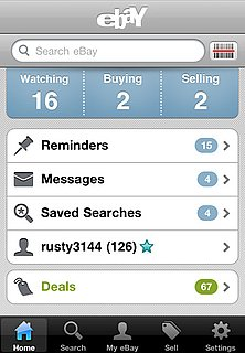 New Updated eBay iPhone App