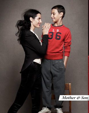 Old-school model Danielle Z and her son — aw!