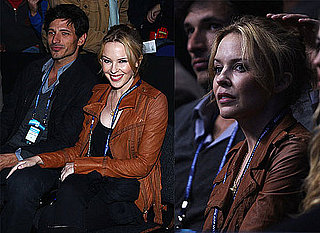 Kylie Minogue and Andres Velencoso Watching Tennis