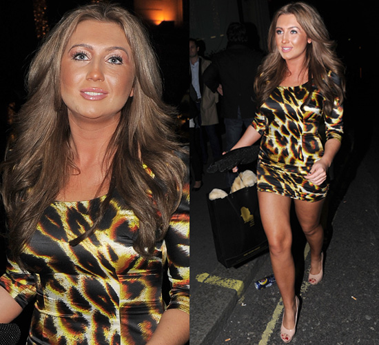 Photos of Lauren Goodger From The Only Way is Essex in Leopard Print