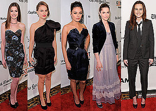 Anne Hathaway, Winona Ryder, Jesse Eisenberg, Leighton Meester, and Natalie Portman at Gotham Awards